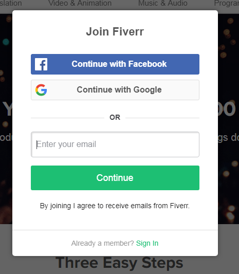 create an account on fiverr & start making money as a freelancer,fiverr seller account sign up,
