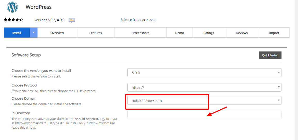 Install WordPress On Subdomain