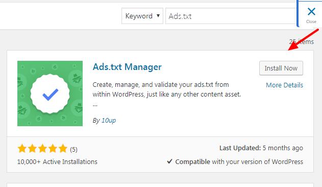 create ads.txt file in wordpress